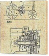 Antique Massey-ferguson Tractor Patent 1935 Wood Print