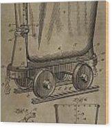 Antique Mining Trolley Patent Wood Print