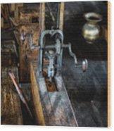 Antique Mortising Machine Wood Print