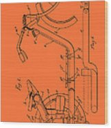 Antique Motorcycle Patent 1921 Wood Print