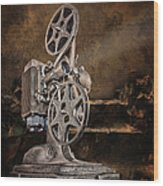 Antique Movie Projector Wood Print
