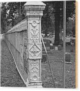 Antique Ornate Post Wood Print