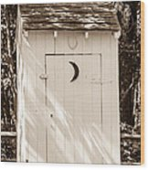 Antique Outhouse Wood Print
