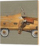 Antique Pedal Car L Wood Print