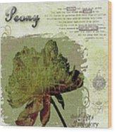 Antique Peony Wood Print