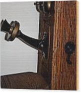 Antique Phone Wood Print