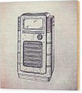 Antique Phonograph Cabinet Patent Wood Print