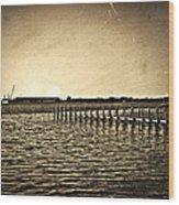 Antique Photo Of Pier  Wood Print