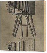 Antique Photographic Camera Patent Wood Print