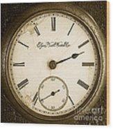 Antique Pocket Watch Wood Print