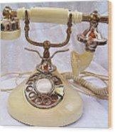 Antique Princess Phone Wood Print