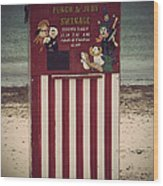 Antique Punch And Judy Wood Print