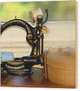 Antique Sewing  Machine Wood Print