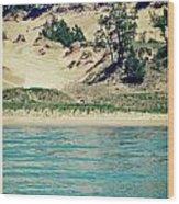 Antique Snapshot Series - Dunes On Lake Michigan Wood Print