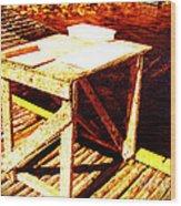 Antique Splitting Table Wood Print