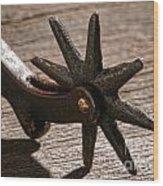 Antique Star Spur Wood Print