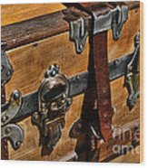 Antique Steamer Truck Detail Wood Print