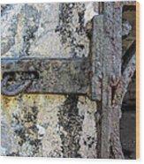 Antique Textured Metalwork Gate Wood Print