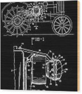 Antique Tractor Patent Wood Print