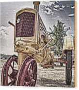 Antique Tractor Wood Print by Tamyra Ayles