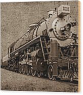 Antique Train Wood Print