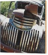 Antique Chevy Truck Wood Print