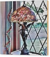 Antique Victorian Lamp At The Boardwalk Plaza - Rehoboth Beach Delaware Wood Print