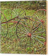 Antique Wagon Frame Wood Print
