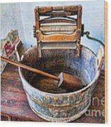 Antique Washing Machine Wood Print