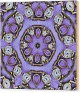 Antique Watch Kaleidoscope Wood Print