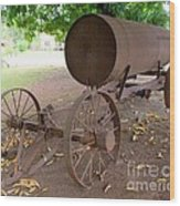 Antique Water Tank - No 1 Wood Print