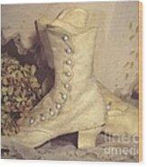 Antique Wedding Shoes Wood Print