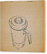 Antique Westinghouse Coffee Maker Patent 1964 Wood Print