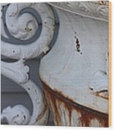 Antique White Wood Print