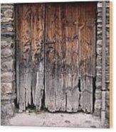 Antique Wood Door Damaged Wood Print