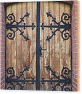 Antique Wooden Door Wood Print