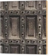 Antique Wooden Door Closeup Wood Print