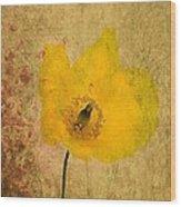 Antique Yellow Flower Wood Print