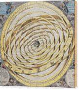 Antique Zodiacal Planetarium Wood Print