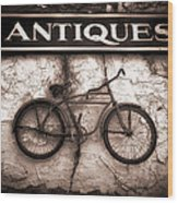 Antiques And The Old Bike Wood Print by Bob Orsillo