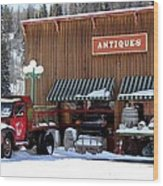 Antiques In The Mountains Wood Print