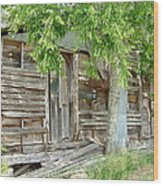 Antiques Sold Here Wood Print