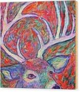 Antler Swirl Wood Print