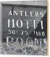 Antler's Hotel Front Door Ghost Town Victor Colorado 1971 1971-2013 Wood Print
