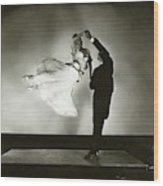Antonio And Renee De Marco Dancing Wood Print