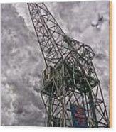 Antwerp Crane Wood Print