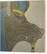 Anubis  Wood Print