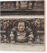 Anuradhapura Carving Wood Print by Jane Rix