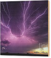 Anvil Crawler Lightning #1 Wood Print