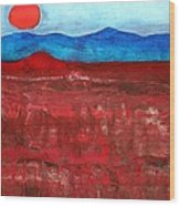 Anza-borrego Vista Original Painting Wood Print